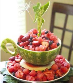 Tinkerbell TeaCup Watermelon Centerpiece