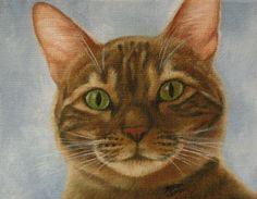 Wakey Wakey Original Oil Cat Painting Fine by MysticMeadowStudio, $90.00