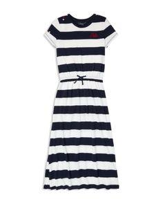 Ralph Lauren women/'s Kendall slim fit stretch Popeline Camicia in Blu//Bianca a Righe