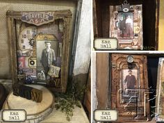Gorgeous #heritage creations featuring Tim Holtz products.
