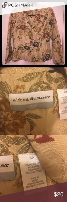 Alfred Dunner Blazer Stunning Alfred Dunner blazer! EUC. Embroidered flowers in multitude of colors would match almost any dress/skirt! Alfred Dunner Jackets & Coats Blazers