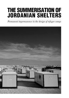 Permanent impermanence in the design of refugee camps
