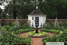 WILLIAMSBURG GARDENBELLE™ - One of the nicest showcase settings we have seen of our Belle.  This one in Greenwich, CT. Absolutely perfect!