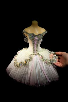 Costume Design...The Spring Fairy - Cinderella, a miniature ballet costume by Vin Burnham, photo by Richard Wilding. https://www.facebook.com/thelittlecostumeshop/