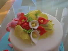 tarta fondant flores
