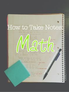 """Soooo it's no secret sometimes finding the best technique to take notes can be tough, especially towards the beginning of the school year when you haven't taken notes for at least two months. Math can be especially tricky because people often say """"how do you study for math?""""… [[MORE]] Over the years, I've tried a few different styles of math notes and a few different styles of studying them, and came to the conclusion that my ability to do math really came from how well I could memorize…"""