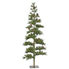Christmas Tree Market™ Narrow Silver Artificial Christmas Tree, 7 ...