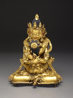 """Vajradhara (Holder of the Thunderbolt) (19th century) Tibet, courtesy of The Crow Collection of Asian Art - """"Noble Change: Tantric Art of the High Himalaya"""" at the Crow Collection"""