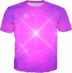 Purple Rose Essence of the Third Eye Sacred Energy Orbs | Fractal Clothes | Rave & Festival Shirt