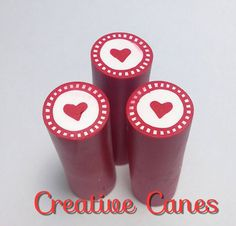 Raw Unbaked Polymer Clay Millefiori Heart Cane by CreativeCanes