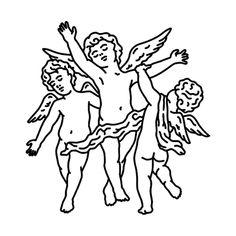 Cherubim Tattoo - Semi-Permanent Tattoos by inkbox™ Cupid Tattoo, Cherub Tattoo, Outline Drawings, Art Drawings, Drawing Art, Equality Tattoos, Angel Drawing, Semi Permanent Tattoo, Desenho Tattoo