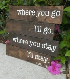 Bible Verse Wall Art Where you go I will go Ruth 1:16 $34.99