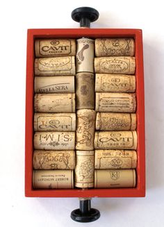 Wine Cork Serving Tray Small Upcycled Tray by Rinnovato on Etsy, $15.00