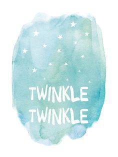Minted® Art Print - Twinkle Twinkle, x Moon Nursery, Star Nursery, Nursery Wall Art, Nursery Quotes, Nursery Prints, Wall Art Prints, Nursery Paintings, Kids Prints, Baby Prints