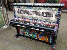 Community mosaic projects, private and public commissions: mosaics for outside…