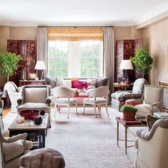 Before: Living Room : Alexa Hampton Renovates a Manhattan Apartment in the Pierre Hotel : Architectural Digest