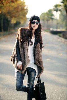 Elegant Sexy Long Faux Fur Vest