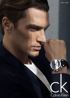 ck Shan DeWet Appears in Calvin Klein Summer 2013 Watches Campaign Calvin Klein Summer, Calvin Klein Watch, Only Fashion, Mens Fashion, Fashion Mag, Fashion Brands, High Fashion, Sean O'pry, Jewelry Ads