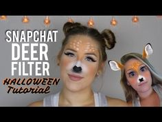 Snapchat Deer Filter - Halloween Makeup Tutorial | Lindsey Mayberry - YouTube