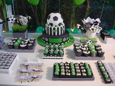 Soccer Birthday Parties, Soccer Party, 5th Birthday, Birthday Party Themes, Soccer Baby Showers, Soccer Theme, Ideas Para Fiestas, Baby Party, First Birthdays