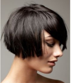 Cute groovy tapered bob haircut picture