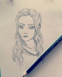 Daenerys Targaryen fanart sketchbook