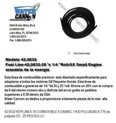 Modelo 42.0632-manguera gasolina-rollo de 25piesx 1/4 pulgada. GX.