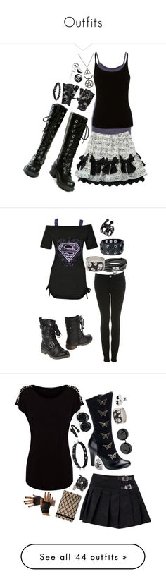 """""""Outfits"""" by midnightmorgue ❤ liked on Polyvore featuring Velvet, Lipsy, Nana', Forever 21, Poizen Industries, Miss Selfridge, Maison Margiela, Michael Kors, Alexander McQueen and Baci & Abbracci"""