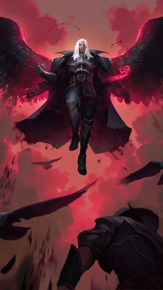 League Of Legends Comic, League Of Legends Characters, Swain Lol, Liga Legend, Systems Art, Dark Fantasy Art, Final Fantasy, Internet Art, Super Hero Outfits