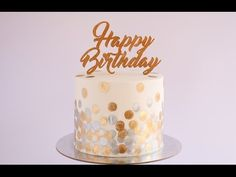 Gold and Silver Bokeh Pattern Cake Tutorial- Rosie's Dessert Spot - YouTube
