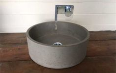 Makers Lane :: CONCRETE SINK BASIN- ROUND Custom Made, Bespoke made in Australia.