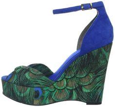 Nine West Women's Dig Platform Sandal, Green Enchanted Peacock: Shoes