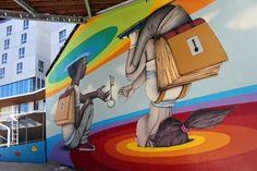 Seth Globepainter creates a new mural in Paris, France 2015 08