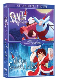 Holiday Family Movie Night Recommendation: Santa's Apprentice and The Magic Snowflake DVD Double Feature #HolidayMagic