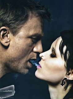 Very sensual!!! Lisabeth and Daniel Craig from The Girl with Dragon Tattoo film.