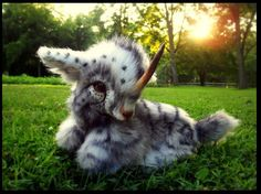 Hand Made Poseable Weighted Fantasy Baby Unicorn!  By Wood Splitter Lee!!