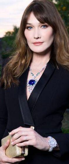 Regilla ⚜ Carla Bruni-Sarkozy wearing Bulgari