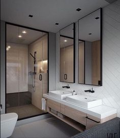 Elegant and Simple Bathroom Storage Ideas in The Next 2019 Innovative bathroom storage ideas for DIY bathroom storage ideas # laundryhomeıdeas the Small Space Bathroom, Simple Bathroom, Modern Bathroom Design, Bathroom Interior Design, Small Spaces, Bathroom Ideas, Shower Bathroom, Bathroom Grey, Bathroom Renovations