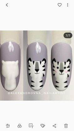 Các con vật Tiere The post Tiere & Nails appeared first on Nails . Cute Toe Nails, Diy Nails, Manicure, Easy Toe Nails, Toe Nail Color, Nail Colors, Animal Nail Art, Toe Nail Designs, Pedicure Designs