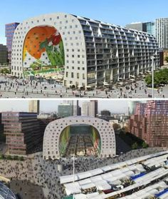 residents of Rotterdam, The Netherlands, are actually getting one! The mayor announced the commencement of construction on the huge tunnel-shaped market hall which will flash images of gigantic fresh fruits and vegetables via LCD screens on the inside and be lined with balconied apartments offering killer views on the outside.
