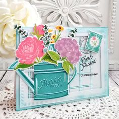 {Flutter} by Atomicbutterfly: The Greetery Destination: Summer Release Day Birthday Gift Cards, Birthday Sentiments, Mason Jar Cards, Cute Cards, Pretty Cards, Making Greeting Cards, Birthday Design, Scrapbook Cards, Scrapbooking