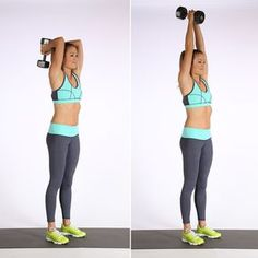 Simple TEN in TEN strength training home based workout using hand weights to increase flexibility, mobility, build mucles, improve fitness and well being. Arm Exercises With Weights, Best Dumbbell Exercises, Dumbbell Workout, Body Exercises, Weight Exercises, Training Exercises, Kettlebell, Fitness Video, Body Fitness