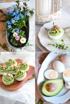 jajka faszerowane awokado Fresh Rolls, Ramadan, Chili, Ethnic Recipes, Chile, Chilis