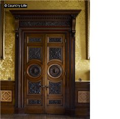A doorway in the 1850s Saloon at Alnwick Castle, which has recently been restored.