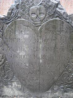 puritan headstone