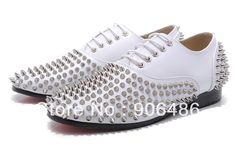 87c2b6d906f Christian Louboutin Freddy Studded Leather Lace Up Oxford Loafers