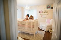 I love the crib in the middle of the room!!!