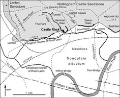 EMGS - East Midlands Geological Society Nottingham Castle, Castle Rock, Old Maps, Geology, Growing Up, Past, Bridge, Memories, History