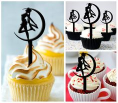 Ca121 New Arrival 10 pcs/Decorations Cupcake Topper/ by Sixday7Day