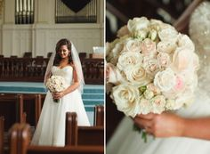 Rose Bouquet-LSL Event Design-Downtown Birmingham Wedding at Southside Baptist Church and The Summit Club by Rebecca Long Photography